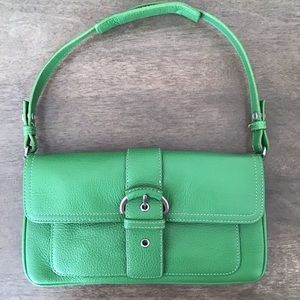 NWOT ANN TAYLOR Green Leather Mini Bag.